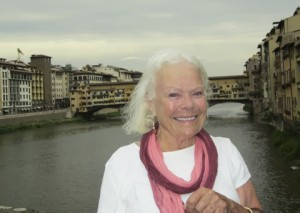 The Ponte Vecchio behind me- Florence 2013